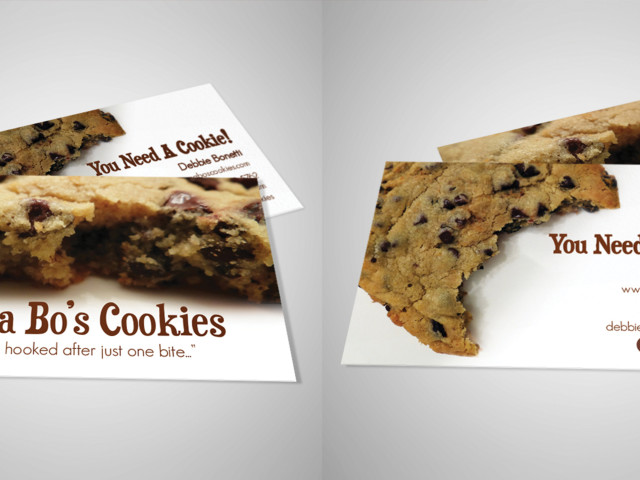 Mama Bo's Cookies Business Card